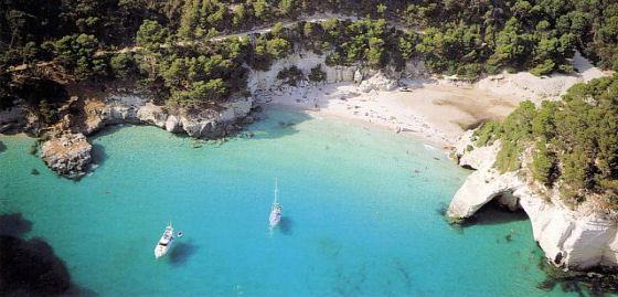 Las calas son uno de los atractivos de Menorca