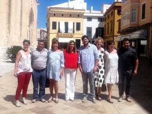 Carbonero, Ametller, Armengol, Tur, Barceló, y Moll, en Ciutadella.