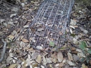 El material se ha usado para proteger los plantones con los que se revegeta la zona.