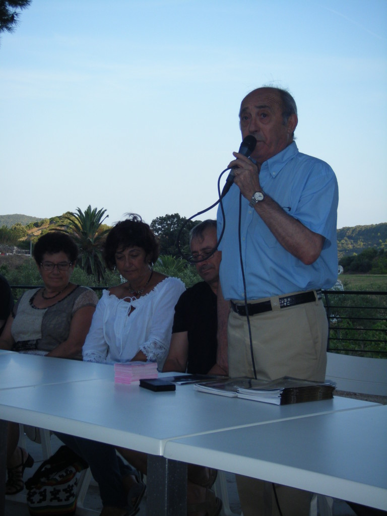 Manuel Monerris en un acto público en Ferreries