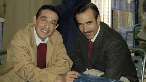 Cairo, a la izquierda, junto a Imanol Arias.