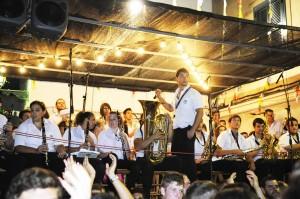 Isaac Mascaró regresa al puerto para actuar con la Banda des Migjorn.