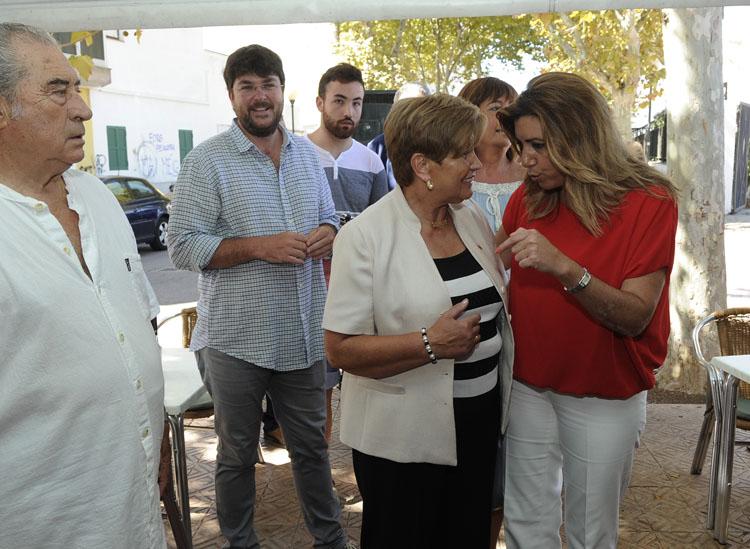 susana diaz presidenta de la junta de andalucia visita la casa de andalucia en mao