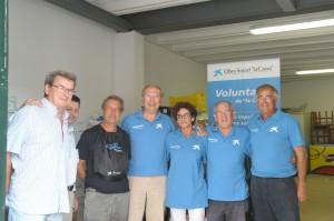 Unas 30 personas forman parte de la asociación de voluntarios de la entidad financiera.