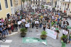 Manifestación en Maó en contra del TIL.