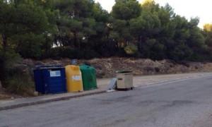 Actual punto de recogida de basuras.