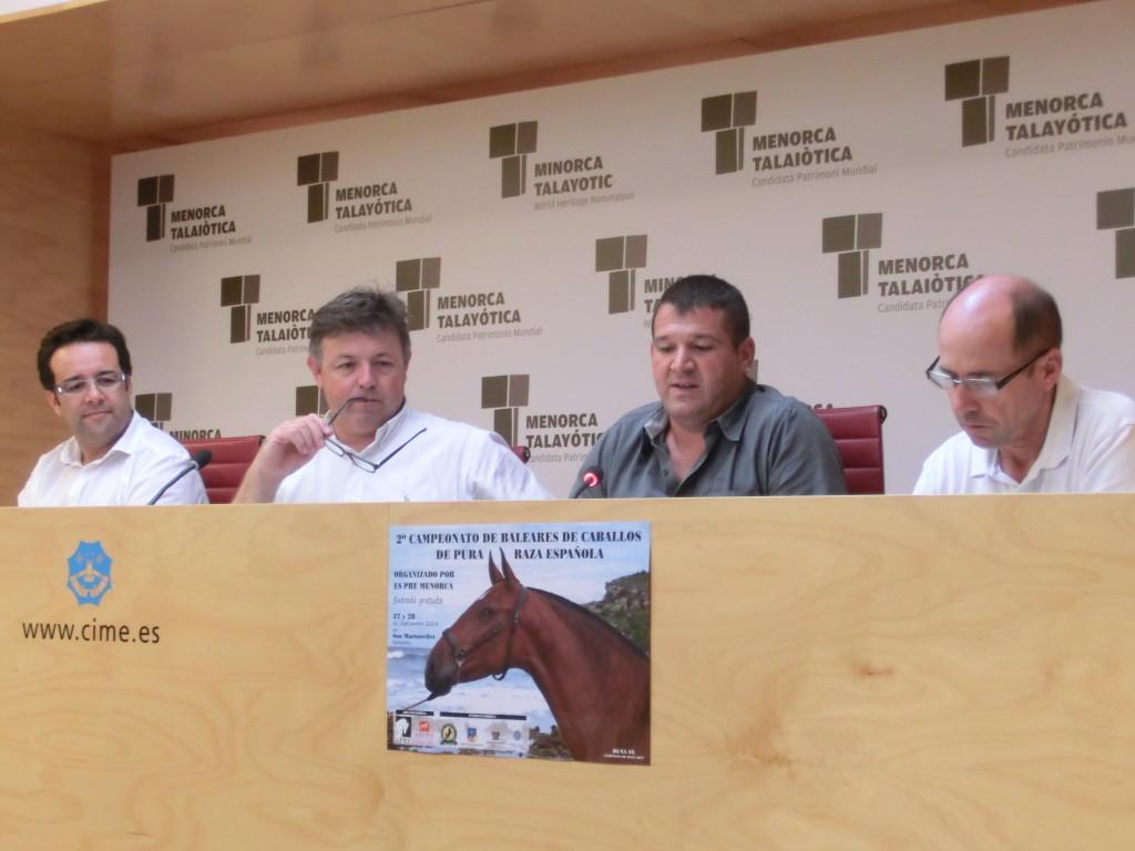Foto roda premsa 2 Campionat Balears Cavalls Pura Raça Espanyola 23 9 2014