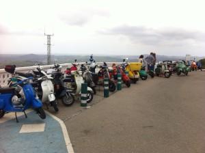 Motoristas mallorquines y menorquines han almorzado juntos en Monte Toro.