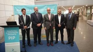 Martín y Pons, de APB, en la presentación de la web que contó con la asistencia de Antoni Deudero, director general de Puertos y Aeropuertos.