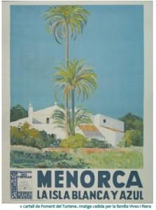 El programa se ilustra con uno de los más destacados carteles de promoción turística de Menorca.