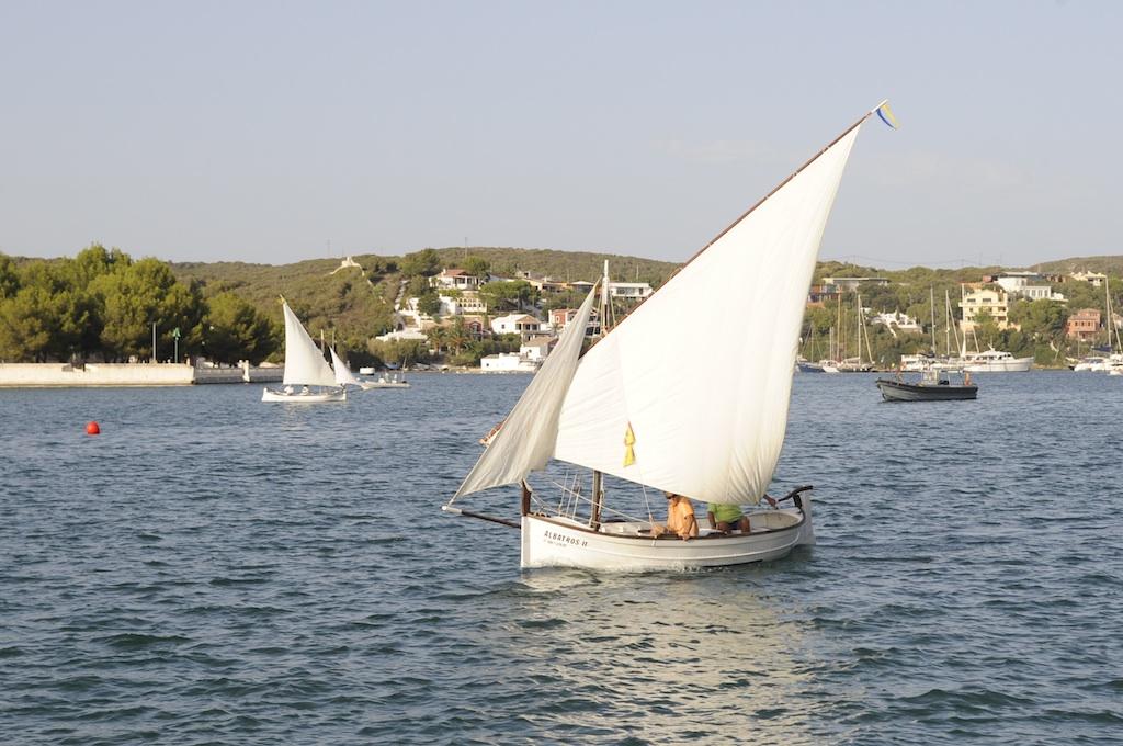 Vela latina en el puerto de Maó