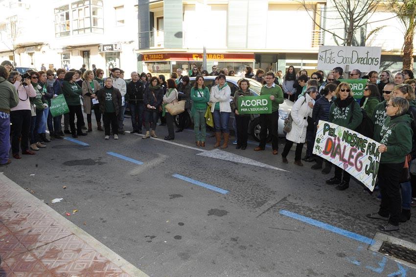 concentracion protesta educacion sede delegacion educacion