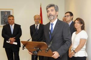 Carlos Lesmes en su discurso.