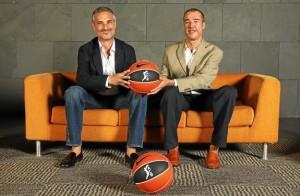 Abós y Olmos, tras el ascenso de CAI y Menorca en la ACB en 2010.