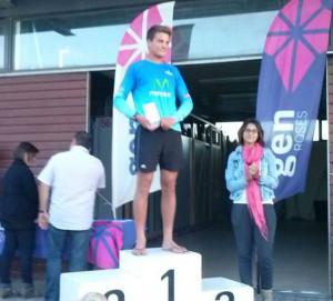 Cardona, en el podio.