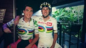 Torres y Muntaner, antes de la prueba (Foto: @alberttoresb)