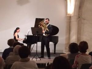 La complicidad entre los dos intérpretes fue evidente durante el recital.