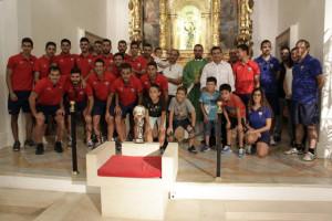 Momento del acto en el santuario (Fotos: deportesmenorca.com)