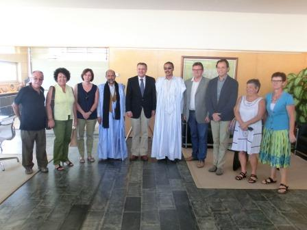 Visita Sahrauís 11 10 2014