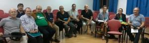 Satisfacción evidente entre miembros de la coordinadora y observadores tras la última reunión.
