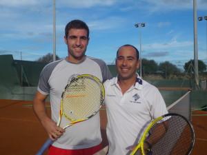 Curiel y Cardona, antes de disputar la final (Foto: FTIB)