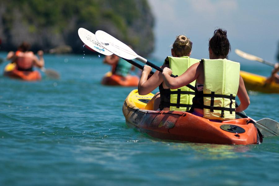 El campeonato de Baleares de kayak de mar se celebrará en aguas de Ciutadella. Foto: disfrutamenorca.com