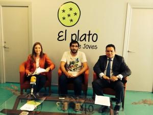 Pons, Camps y García, en el Plató de Joves durante la presentación de la edición 2014.
