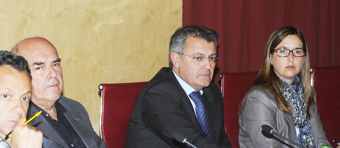 Pleno ConsellJoan Josep Pons, Alejandre, Santiago Tadeo y Pilar Pons