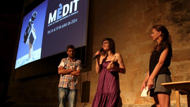 Anna Petrus el día que recibió el premio Mèdit Balear