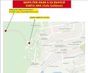 Mapa de la nueva ubicación de la prueba.