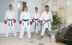 Imagen de los karatecas menorquines.