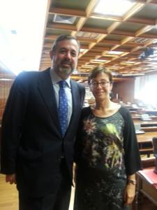 Pons Vila, en el Senado junt con Ramos. FOTO.- JFPV