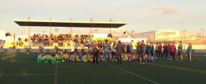 Momento de la concentración en Ciutadella.