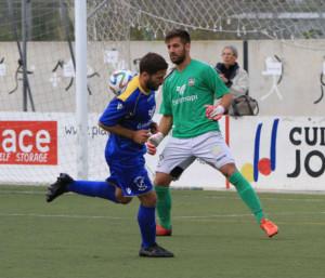 Marcos, portero del Formentera, sólo ha encajado tres goles (Fotos: futbolbalear.es)