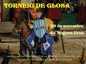 Una de las imágenes promocionales del Torneig de Glosa.