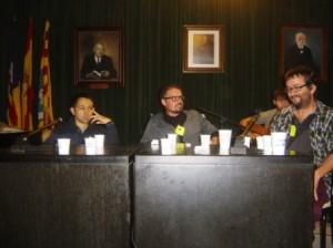 De izquierda a derecha, los tres finalistas: Miquel Truyol (3º), Xavier Triay (2º) y Joan Moll (1º). Foto: Soca de Mots.