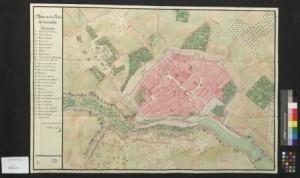 Plano de Ciutadella según Blas Zappino (1782)