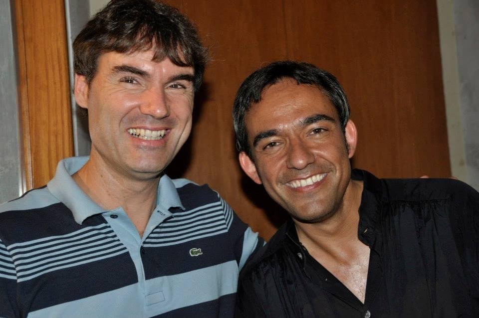 Richard de la Fuente y Josu Okiñena (pianista).