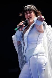 Rita Barber en una actuación del musical 'Mamma Mia'.