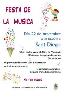 Cartel anunciador de la Fiesta de la Música.