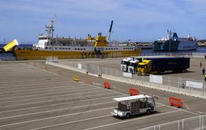 Imagen del puerto operando. FOTO.- Archivo