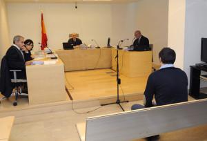 El acusado, al inicio de su declaración en el Juzgado de lo Penal número 1 de Mahón.