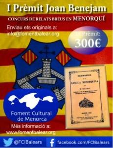 Cartel anunciativo del 'Prèmit Joan Benejam'.