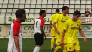 Rubén, en un partido ante el Villarreal B (Foto: centredesportslhospitalet.blogspot.com)