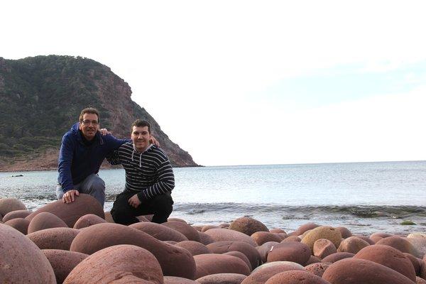 Damià Coll y Lluís Guasch, autores del libro.