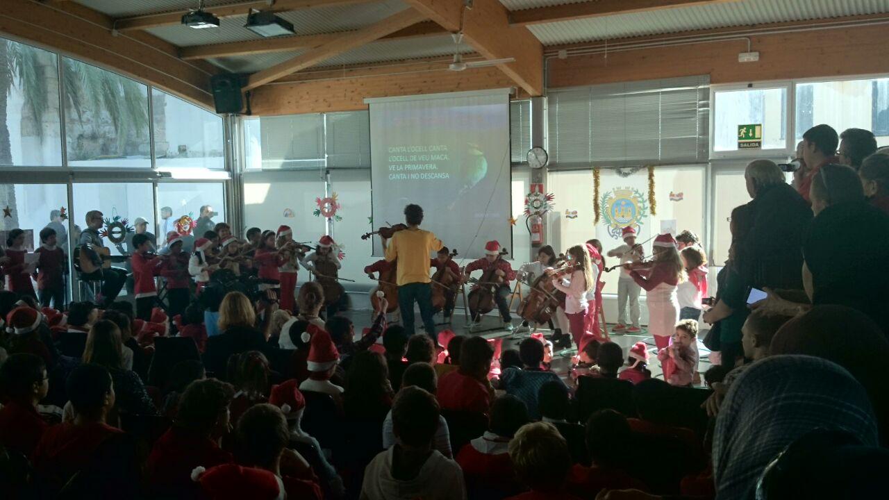Orquesta proyecto Cuatro cuerdas CEIP antoni Juan