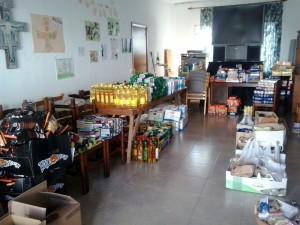 Voluntarios, empresas y particulares han hecho posible esta recogida. FOTO.- Bisbat de Menorca