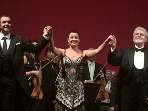 Orfila, Camps y Pons, ovacionados al final del concierto.