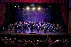 La Banda de Es Mercadal en su concierto navideño anterior.
