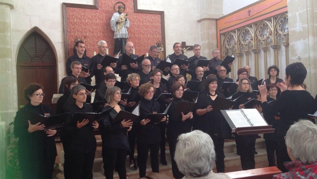 La Coral Clau de Sol en su concierto del pasado fin de semana en Llucmaçanes